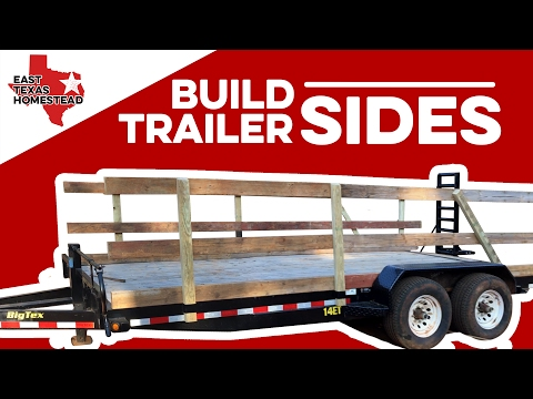 How to Build Wood Sides for Utility Trailer | DIY Homesteading Videos | #EastTexasHomestead