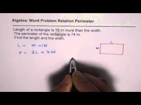 Algebraic Linear Equation to Relate Perimeter of Rectangle