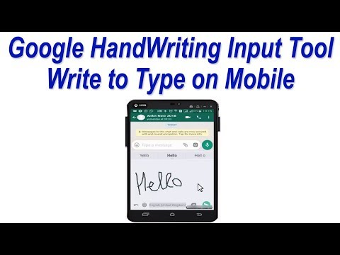 Google HandWriting Input Tool ! write to Type in English or any other Language on Mobile