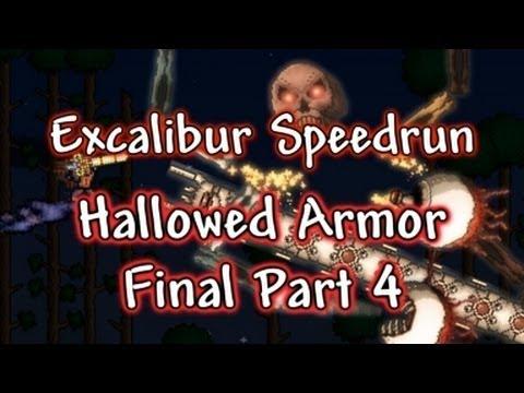 Terraria - Grand Final: Quest for Hallowed, Excalibur Speedrun (Part 12)
