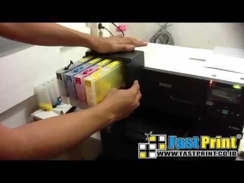 How to install printer cartridge refill CISS on EPSON B510
