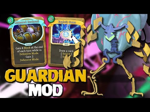 Slay The Spire - The Guardian Mod Act 4   Exploiting Gems
