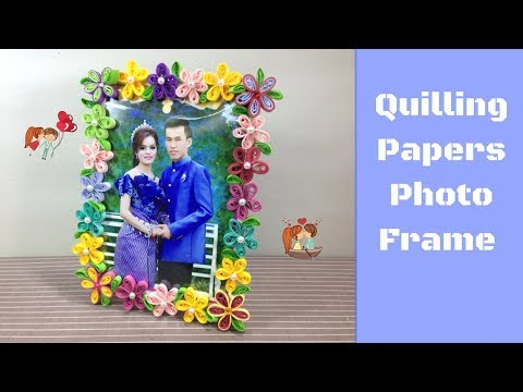 Quilling Photo Frame Easy Tutorial -  paper quilling designs - Diy  paper folding &  paper craft