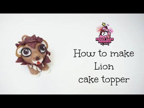 How to make Lion cake topper/มาปั้นสิงโตกัน