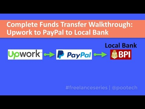 Withdrawal / Funds Transfer from Upwork to PayPal to Local Bank