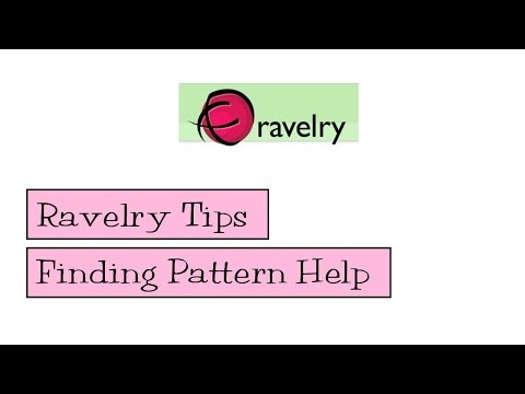 Ravelry Tips - Finding Pattern Help