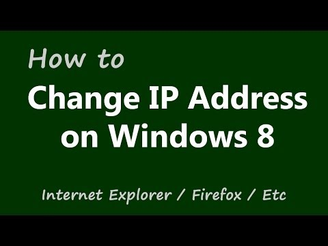 How to Change IP Address on Windows 8