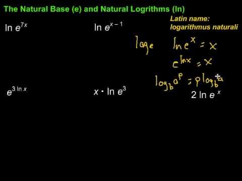 Natural Base (e) and Natural Logarithms (ln)