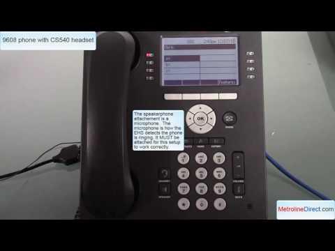 Avaya 9608 with CS540 headset - How to install