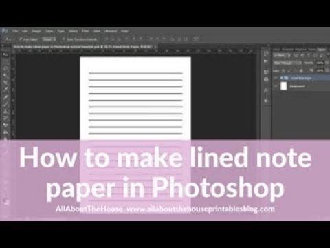 How to make lined note paper DIY planner insert refills in Photoshop - quick and easy tutorial
