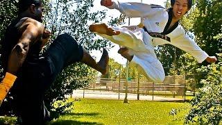 Taekwondo Fighter vs Muay Thai Fighter Fight Scene