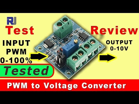 Convert PWM to Voltage using IC Station converter (Review and Test )