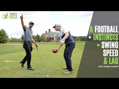 Golf Swing Speed and Lag Naturally With A Football?   Amazing Feel of A Great Golf Swing