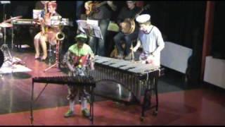 drumschool de batterij, circus renz, Martijn van Gilst, Joos Hassing, muzikale clowns, xylofoon en vibrafoon, voorspeelavond in de glasbak