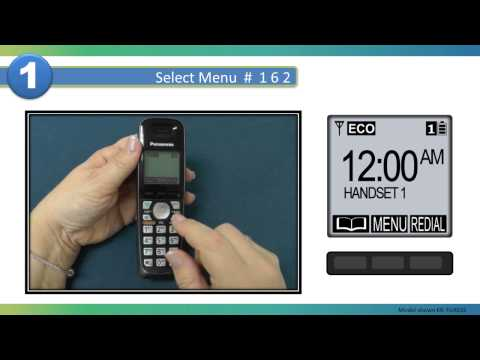 2013 Models - How to Turn Off Talking Caller ID on your Panasonic Cordless telephone