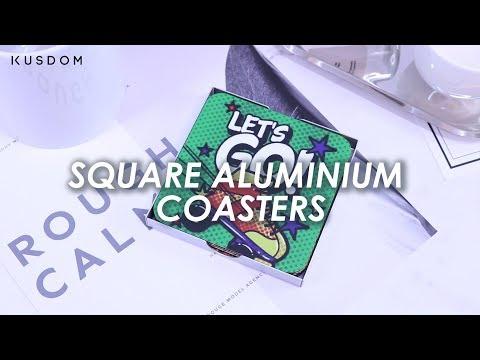 Square aluminium coasters - Design Your Own