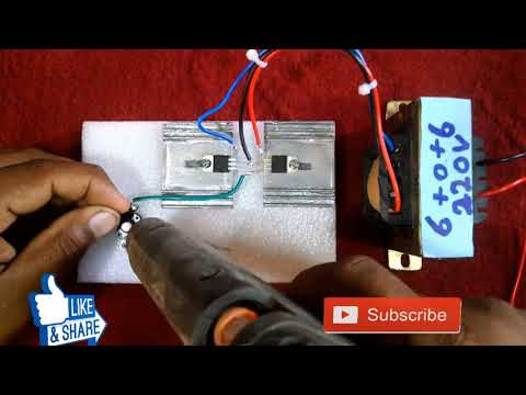How To Make Mini Inverter With( 9V) DC Battery And Transformer Easy It Home