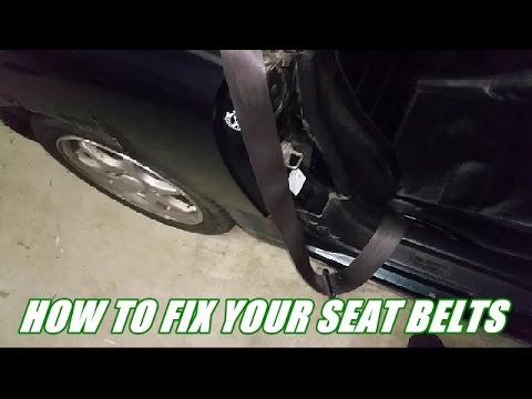 How to fix non, slowly retracting or stuck seat belts for free!