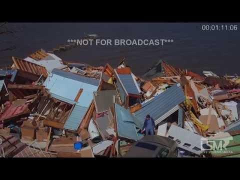 2-24-16 Pensacola, FL Storm Damage Aerial Footage