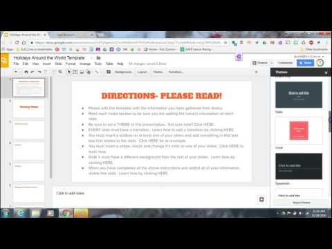 Changing THEME in Google Slides