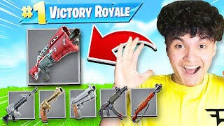 WINNING with GREY GUNS ONLY in Fortnite
