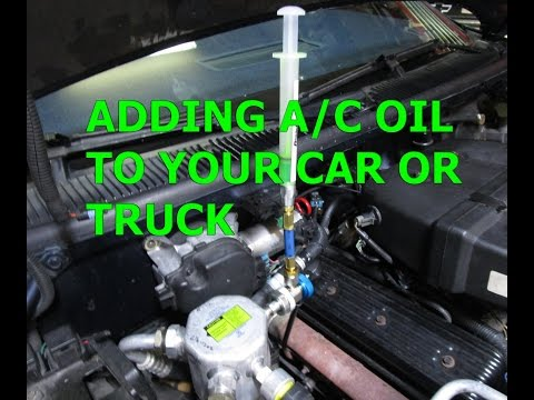 Adding A/C  Compressor refrigerant oil to your Car OR Truck! How to?