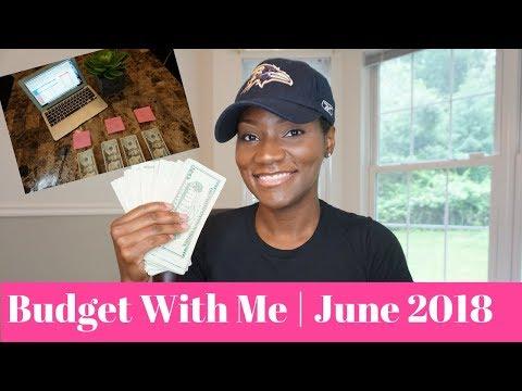 June 2018 Cash Envelopes | Cash Envelope Budgeting | Excel Budget Template | FrugalChicLife