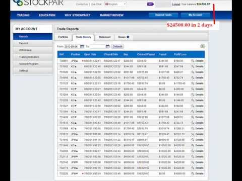 Stockpair strategy from $200 to $24000 in 2 days - binary options stupide strategy