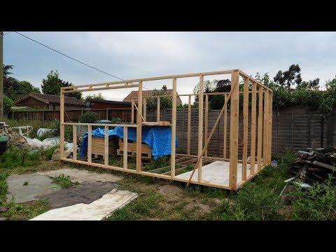 Pallet wood workshop build.  Part 4