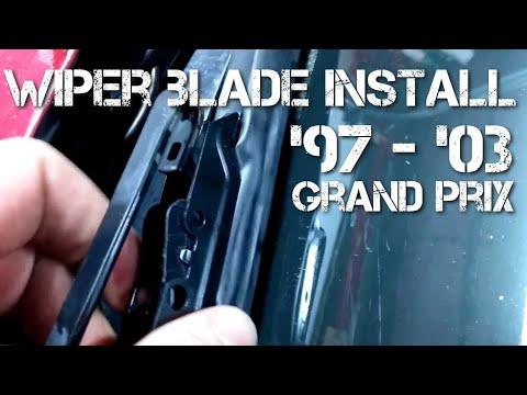 Wiper Blade Replacement Installation Grand Prix