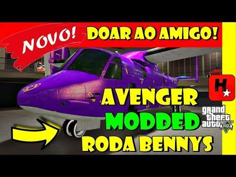 GTA 5: Glitch Pegar Veículo Modded do Amigo! Avenger Modded com Roda da Benny's | Free Upgrades