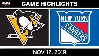NHL Highlights   Penguins vs. Rangers – Nov. 12, 2019