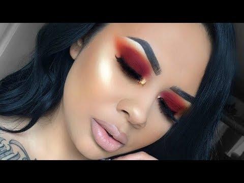 FALL Makeup Tutorial | Burgundy Red Eyeshadow
