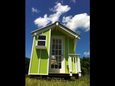 Cute Lime Green 72 sqr ft Tiny house by Trekker Trailers