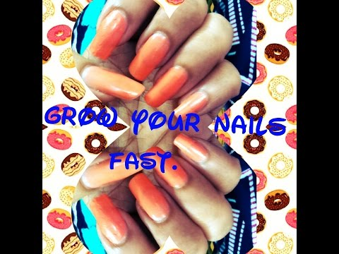 How to GROW LONG NAILS Fast in 1 week | NAILS SPA at Home.
