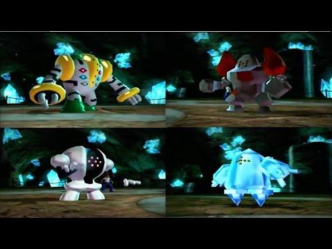 Pokemon Regigigas vs Regirock vs Registeel vs Regice