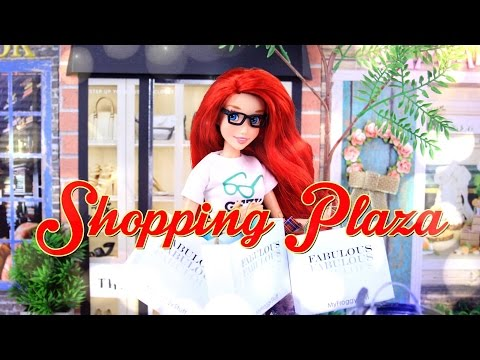 DIY - How to Make:  Doll Shopping Plaza - Doll Street Scene - Part 1 - 4K