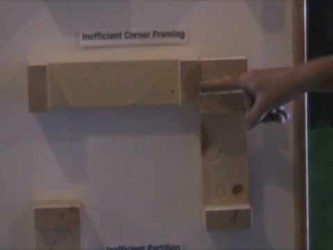 Efficient Wall Framing - TogetherWeSave Energy Efficiency Display Panel