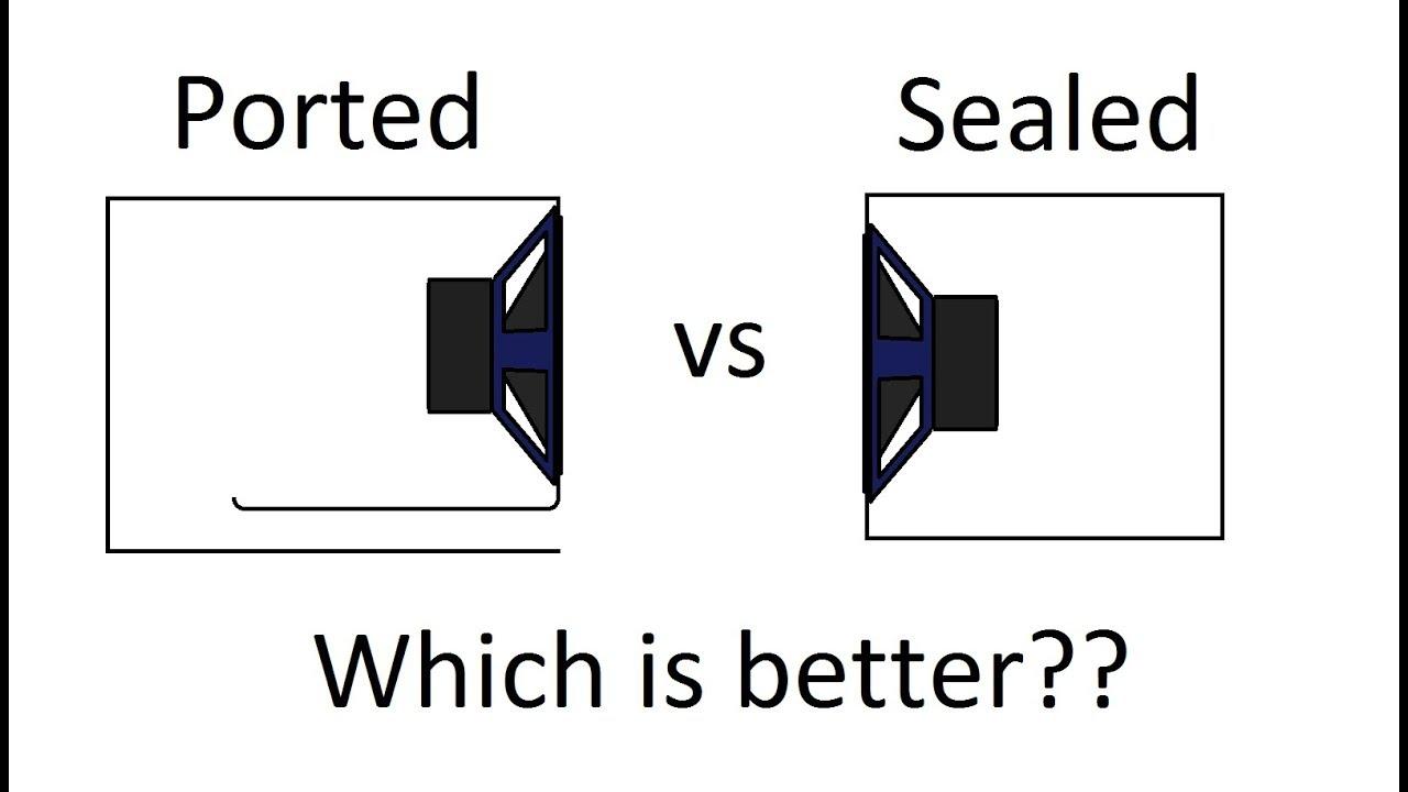Sealed VS Ported Subwoofer Enclosures