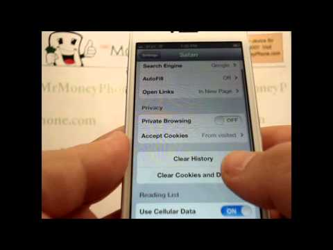 iPhone 5 - How to Delete my Browsing History - Apple iPhone 5 - Tutorial #09