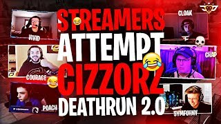 STREAMERS ATTEMPT CIZZORZ DEATHRUN 2.0! (Fortnite: Battle Royale)