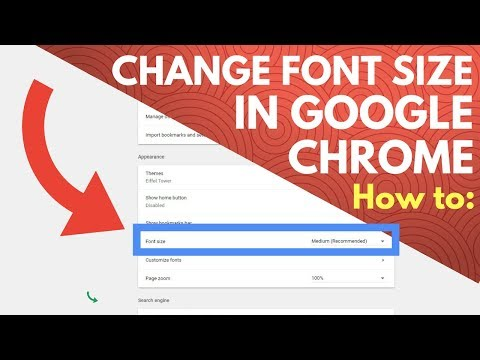 How To Change Font Size In Google Chrome