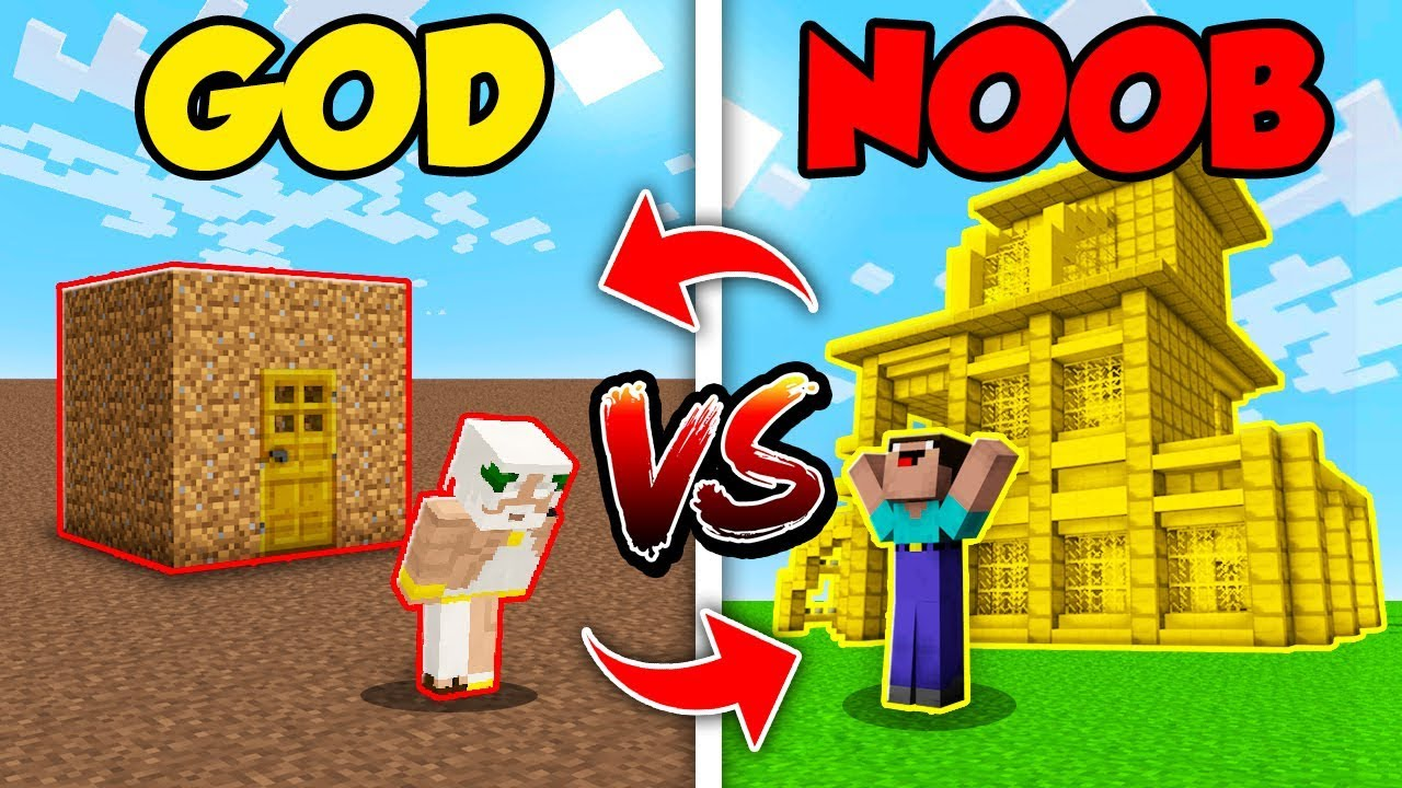Minecraft NOOB vs. GOD: SWAPPED HOUSE BUILD CHALLENGE in Minecraft (Compilation)