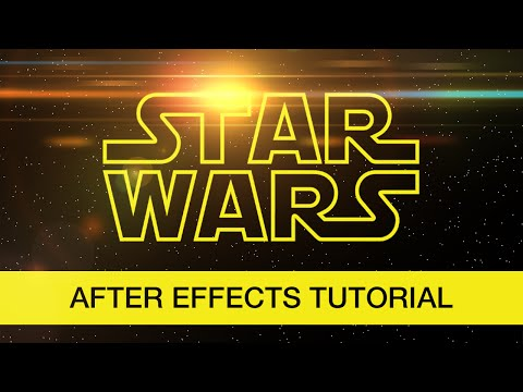 Star Wars Intro tutorial (After Effects)