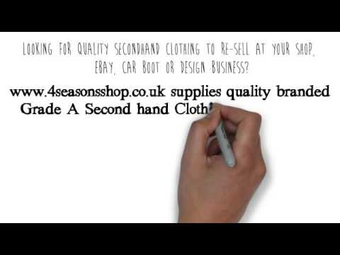 Grade A Branded Used Clothing Wholesale, Bulk Second Hand Clothes in London