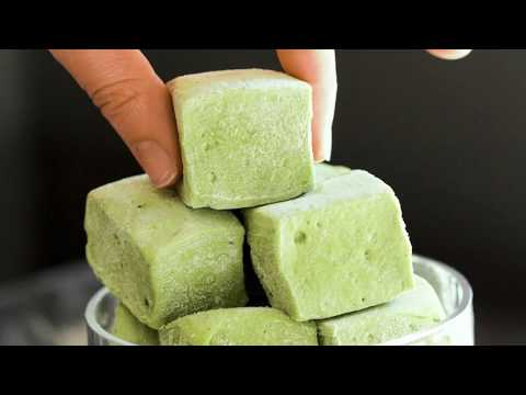 How to Make Matcha Green Tea Marshmallows (refined sugar free, fat free, eggless)