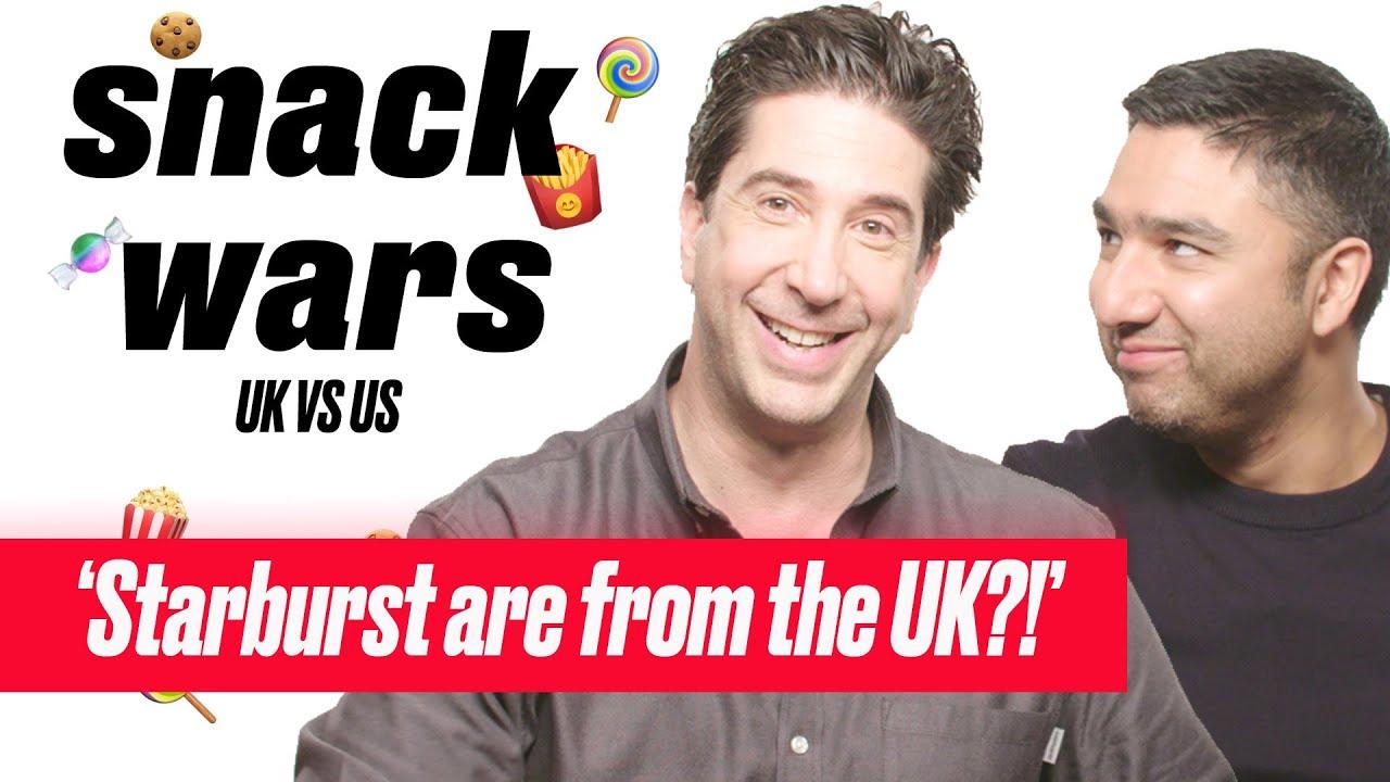 David Schwimmer HATES Some Of These British Snacks | Snack Wars | LADbible