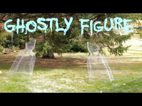 DIY Halloween Chicken Wire Ghost Figure Yard Decoration fast, easy, cheap