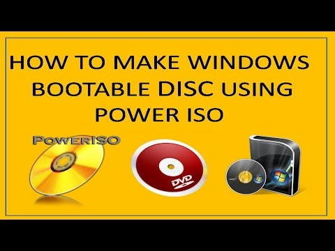 How to make a bootable windows dvd using power iso