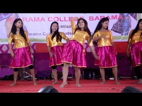 Cool girls dance || Barama college fresher's Day 2016|| by Bodoland Dance